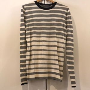 Vince Cotton Stripe Lightweight Sweater Size M
